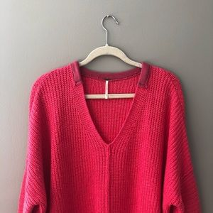 Free People Knit V Neck Sweater